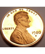 United States Proof 1980-S Lincoln Cent~See All Our Lincoln Proofs~Free ... - $3.85