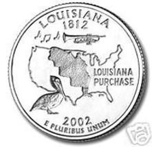 2002-D LOUISANA BRILLIANT UNCIRCULATED STATE QUARTER - $1.36