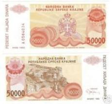 CROATIA 50,000 DINARA AWESOME NOTE GEM UNC~~FREE SHIP~~ - $3.81