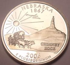 Gem Cameo Proof 2006-S Nebraska State Quarter~See All Our proof Quarters~Fr/Ship - $5.24