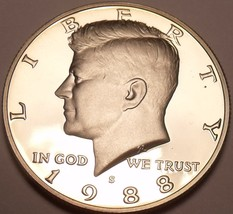 1988-S GEM PROOF KENNEDY HALF~FREE SHIPPING~AWESOME~ - $7.59