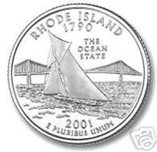 2001-D RHODE ISLAND BRILLIANT UNC STATE QUARTER - $1.86