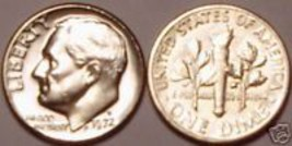 1972-D BRILLIANT UNCIRCULATED ROOSEVELT DIME~FREE SHIP~ - $3.22