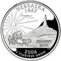 2006-P NEBRASKA BRILLIANT UNCIRCULATED STATE QUARTER - $1.32