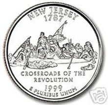 1999-D NEW JERSEY GEM UNC STATE QUARTER~FREE SHIPPING~ - $3.32