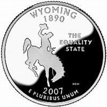 2007 D Wyoming Gem Brilliant Uncirculated State Quarter~Free Shipping Included~ - $2.83