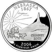 2006-D NEBRASKA GEM BRILLIANT UNCIRCULATED STATE QUARTER~FREE SHIPPING I... - $2.93