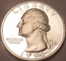 United States 1990-S Proof Washington Quarter~We Have Proof Coins~Free S... - $5.70