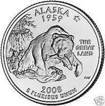 2008-P ALASKA GEM UNCIRCULATED STATE QUARTER~FREE SHIP~ - $2.95