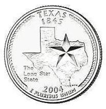 2004 D Texas Brilliant Gem Unc State Quarter~Free Shipping~We Have State Quarter - $2.77