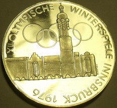 Silver Proof Austria 1974 100 Schilling~Imperial Eagle~Olympics In Innsbruck~F/S - $41.15