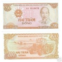 VIETNAM 200 DONG AWESOME NOTE GEM UNCIRCULATED~FR/SHIP~ - $2.43
