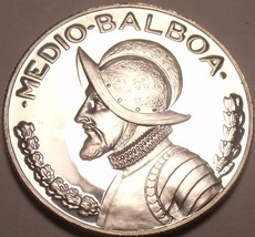 Extremely Rare Silver Proof Panama 1970 Half Balboa~9,528 Minted~Free Shipping - $38.99