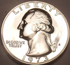 1973-S PROOF WASHINGTON QUARTER~WE HAVE PROOFS~FREE SHI - $6.28