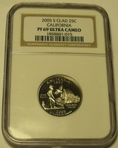 2005-S NGC CERTIFIED PROOF 69 ULTRA CAMEO CALIFORNIA STATE QUARTER~FREE ... - $19.79