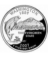 2007-P WASHINGTON BRILLIANT GEM UNC STATE QUARTER~FREE SHIPPING~SEE R CO... - $2.71
