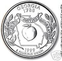 1999-D GEORGIA BRILLIANT UNC STATE QUARTER~~FREE SHIP~~ - $3.31