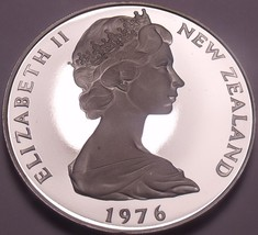 Rare Cameo Proof New Zealand 1976 50 Cents~11,000 Minted~Proofs R Best~F... - $25.24