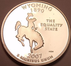Cameo Proof 2007-S Wyoming State Quarter~We Have Every State Quarter~Free Ship~ - $5.58