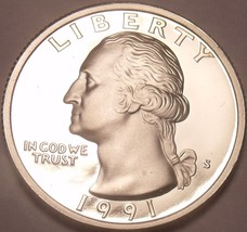 United States Proof 1991-S Washington Quarter~See Our Proof Coins~Free S... - $5.73