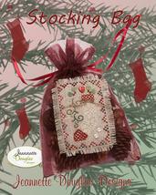 Stocking Bag cross stitch kit Jeanette Douglas Designs - $16.20