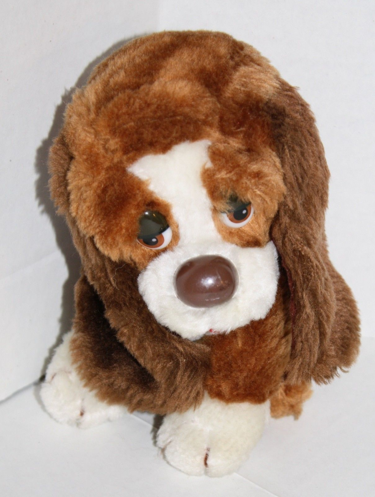 "Primary image for Russ Berrie stuffed animal Sad eyes Baxter Puppy Dog plush toy 871 Korea 7"" VTG"