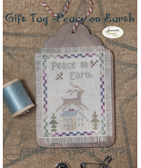 Peace on Earth Gift Tag cross stitch chart Jeanette Douglas Designs - $5.40