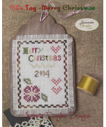 Merry Christmas Gift Tag cross stitch chart Jeanette Douglas Designs - $5.40