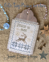 Peace To Thee Gift Tag cross stitch chart Jeanette Douglas Designs - $5.40