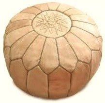 Pouf genuine leather/ Leather Ottoman  image 1