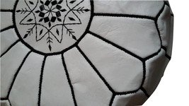 Moroccan Leather Ottomans Pouf  image 2