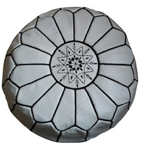 Moroccan Leather Ottomans Pouf