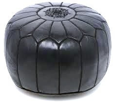 Pouf / genuine  Leather Ottoman