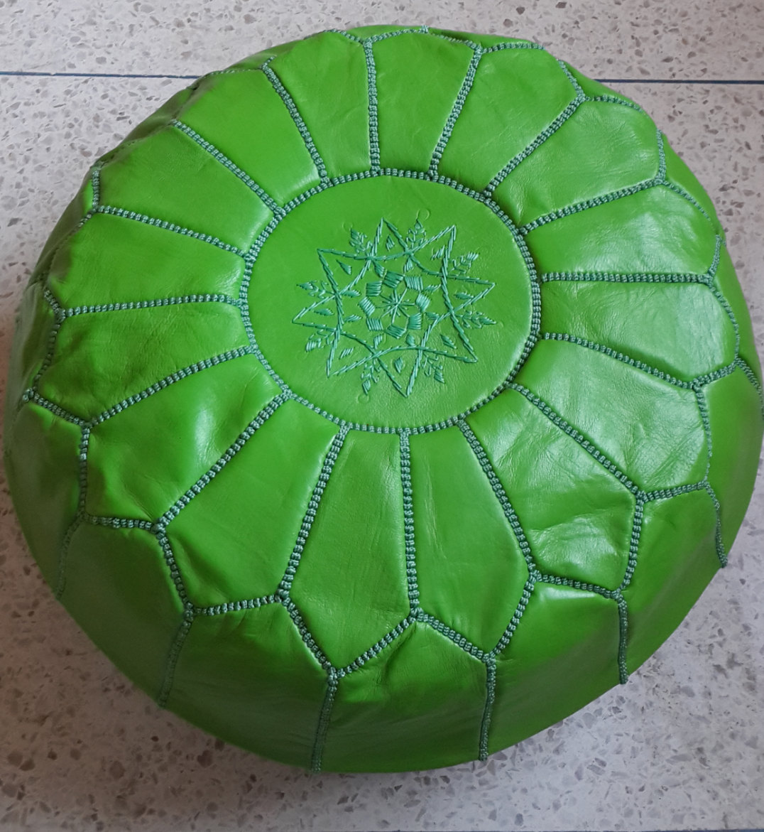Pouf / genuine   Leather Ottomans