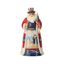 """America Santa from Jim Shore Around the World Collection 7.1"""" High Christmas"""