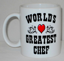 World's Greatest Chef Mug Can Personalise Great Head Cook Commis Pastry ... - $9.23