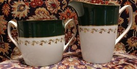 Spode GREEN VELVET  creamer and sugar - $65.41