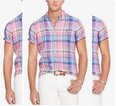 Polo Ralph Lauren Men's Short-Sleeve Pink Plaid Sport Shirt, Size XS - $49.49