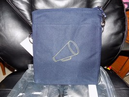 Thirty One Picnic Thermal Tote Spirit Navy with Embroidered Megaphone NE... - $31.98