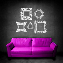 Baroque Frames (Set of 5) - Vinyl Wall Art Decal - $45.00