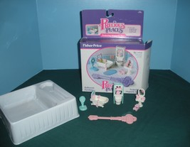 Vintage Fisher Price Precious Places #5174 Bathroom Play Set COMPLETE wi... - $29.99