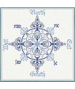 North South East West cross stitch chart Alessandra Adelaide Needlework - $16.20