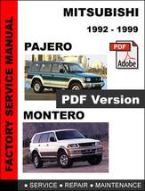 Mitsubishi Pajero Montero 1992   1999 Official Factory Oem Service Repair Manual - $14.95