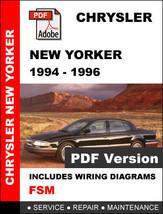 Chrysler New Yorker 1994   1996 Ultimate Official Factory Service Repair Manual - $14.95