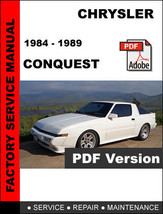 Chrysler Conquest 1984   1989 Ultimate Official Factory Service Repair Manual - $14.95
