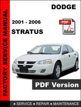 DODGE STRATUS 2001 - 2006 ULTIMATE FACTORY OFFICIAL OEM SERVICE REPAIR M... - $14.95