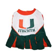Pets First Miami Hurricanes Cheerleader Dog Dress Medium 1288-23508001102-M - $22.99