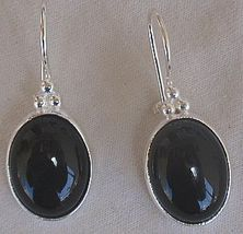 Onyx oval earrings - $26.00