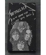 Metallica Cliff Em All VHS Tape Used - $10.95