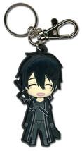 Sword Art Online Happy Kirito SD PVC Key Chain GE36748 *NEW* - $9.99